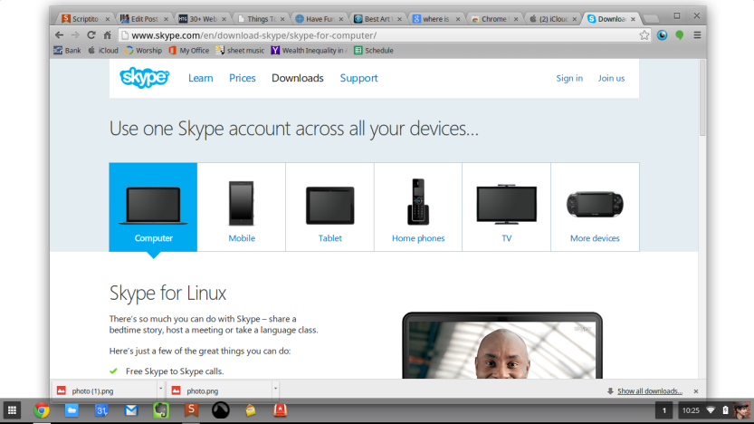 From the website it looks like Skype is available on everything! phones, TVs, Playstation PSP, even Linux... So, where is Chrome?
